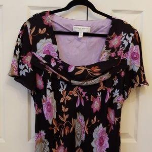 Donna Ricco N.Y. Floral pattern Silk Dress